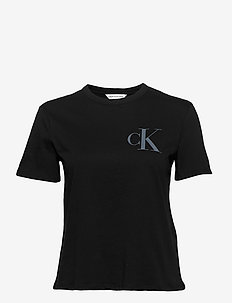 BACK INSTITUTIONAL LOGO SLIM TEE - logo t-shirts - ck black
