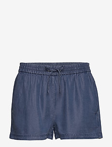 INDIGO TENCEL SHORTS - casual shortsit - mid indigo