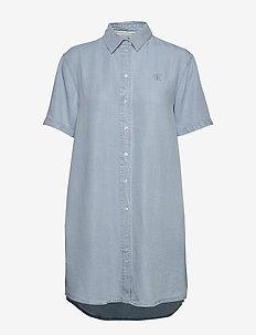 INDIGO TENCEL SS DRE - shirt dresses - light indigo