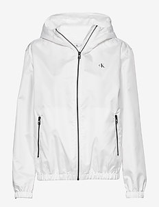 LARGE CK LOGO HOODED - vestes legères - bright white