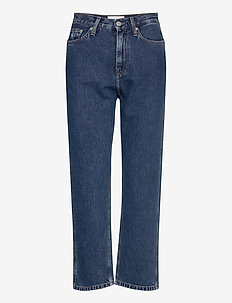 CKJ 030 HIGH RISE STRAIGHT ANKLE - mom jeans - ab076 icn light blue