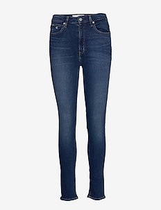 CKJ 010 HIGH RISE SKINNY - dżinsy skinny fit - ab048 dark blue