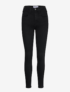HIGH RISE SUPER SKINNY ANKLE - skinny farkut - ab045 washed black yoke