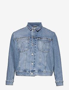 PLUS OMEGA TRUCKER - jeansjakker - da146 icn light blue