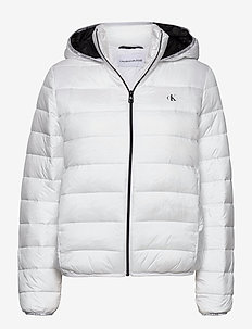 LOGO BINDING LW PADDED PUFFER - padded jackets - bright white