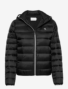 LOGO BINDING LW PADDED PUFFER - down- & padded jackets - ck black