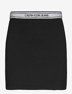 LOGO ELASTIC MILANO MINI SKIRT - short skirts - ck black