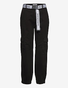 BELTED CARGO PANT - casual trousers - ck black