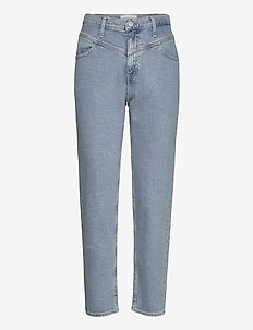 MOM JEAN - mom jeans - ab068 light blue yoke