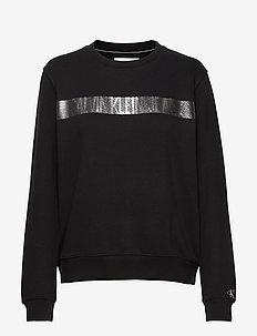 METALLIC STRIPE LOGO CN - sweatshirts - ck black