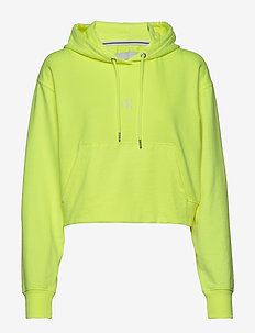 PUFF PRINT CROPPED HOODIE - hoodies - safety yellow