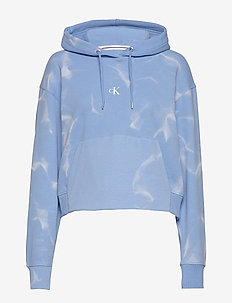 LAVA DYE CROPPED HOODIE - hoodies - powdery blue