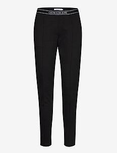 LOGO ELASTIC MILANO TROUSER - slim fit trousers - ck black