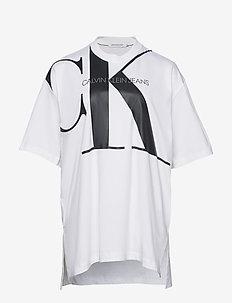 PLUS LARGE CK TUNIC - logo t-shirts - bright white