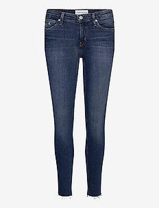 CKJ 011 MID RISE SKINNY ANKLE - skinny jeans - ab115 dark blue embro rwh