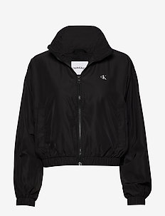 BACK LOGO WINDBREAKER - vestes legères - ck black