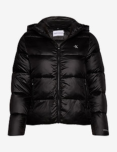 MW SHINY PUFFER - padded jackets - ck black