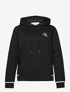PLUS CK EMBROIDERY  HOODIE - hoodies - ck black