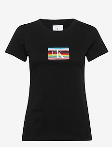 SMALL FLAG SLI - logo t-shirts - ck black