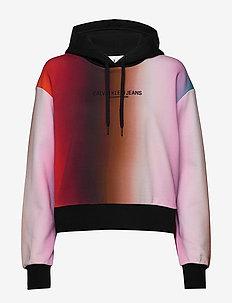 BLUR AOP OVERS - hoodies - rainbow blur aop