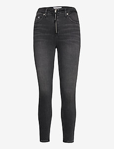 HIGH RISE SUPER SKINNY ANKLE - skinny jeans - bb101 - grey zip