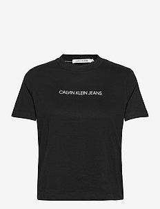 SHRUNKEN INST MODERN SS TEE - t-shirts - ck black