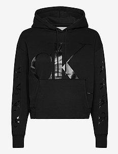 CK ECO HOODIE - hoodies - ck black
