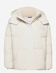CK ECO PUFFER JACKET - down- & padded jackets - soft cream