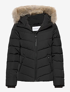 SHORT DOWN FITTED PUFFER - fôrede jakker - ck black