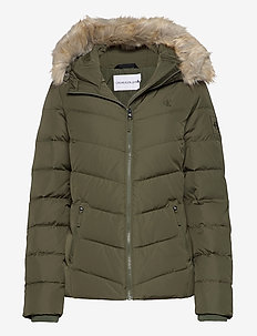 SHORT DOWN FITTED PUFFER - down- & padded jackets - deep depths