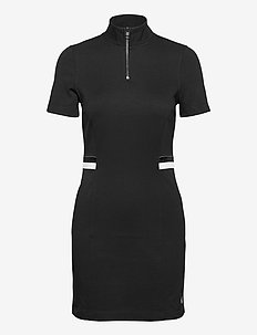 ZIP MONOCHROME MILANO SS DRESS - midi jurken - ck black