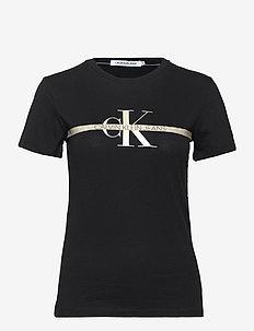 GOLD MONOGRAM TEE - t-shirts - ck black