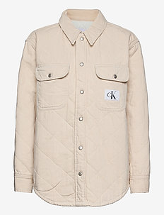 PADDED SHIRT JACKET - jeansjakker - denim light