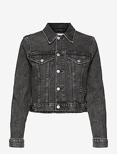 CROPPED DENIM JACKET - vestes en jean - denim grey