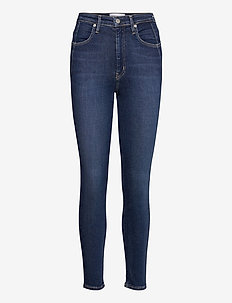 HIGH RISE SKINNY - skinny jeans - denim dark