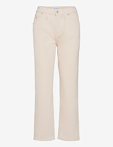 HIGH RISE STRAIGHT ANKLE - straight jeans - denim light