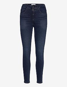 HIGH RISE SUPER SKINNY ANKLE - skinny jeans - denim dark