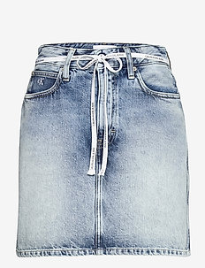 HIGH RISE MINI SKIRT - jeanskjolar - denim light