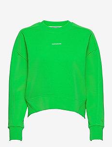 MICRO BRANDING SWEATSHIRT - sweatshirts et sweats à capuche - acid green