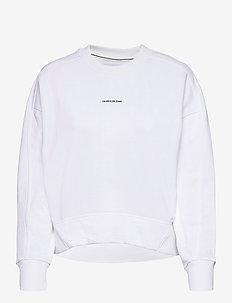 MICRO BRANDING SWEATSHIRT - sweatshirts et sweats à capuche - bright white