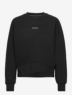 MICRO BRANDING SWEATSHIRT - sweatshirts - ck black