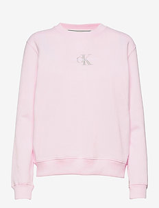 MONOGRAM LOGO CREW NECK - sweatshirts - pearly pink/quiet grey
