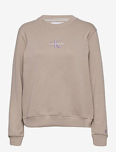 MONOGRAM LOGO CREW NECK - sweatshirts - string