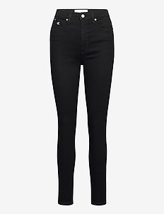 HIGH RISE SUPER SKINNY ANKLE - skinny jeans - denim black