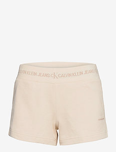 LOGO TRIM KNIT SHORT - shorts casual - white sand