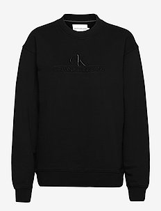 EMBROIDERY ECO WASH CREWNECK - sweatshirts et sweats à capuche - ck black