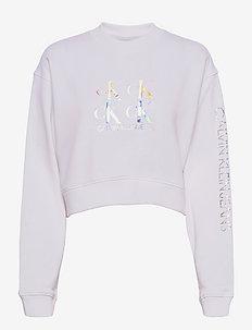 SHINE LOGO CREW NECK - sweatshirts & hættetrøjer - bright white