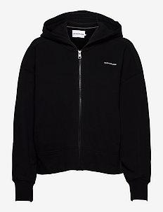 MICRO BRANDING ZIP-THROUGH - sportiska stila džemperi un džemperi ar kapuci - ck black