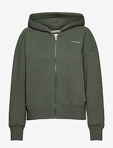 MICRO BRANDING ZIP-THROUGH - sweatshirts & hættetrøjer - duck green