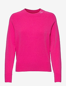NECK LOGO FLUFFY SWEATER - gensere - party pink